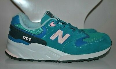 New Balance WL999LWA 999 Elite Edition Lost Worlds TEAL Suede Comfort Sneaker 7
