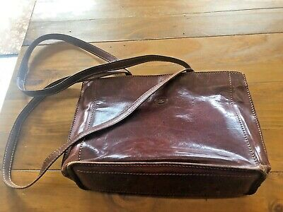 Ledertasche The Bridge Shopper mit Reisverschluss Vintage leder DIN A4