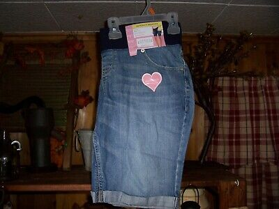 Great Expectations Ladies Maternity Denim Bermuda Shorts Size Med 8-10 Casual