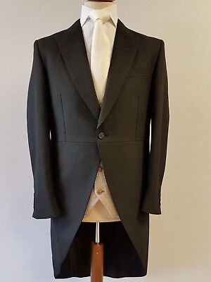 New / Mens Black / Tailcoat /  Wedding / Ascot / Morning Suit / Dress / Jacket
