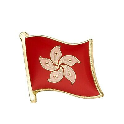Hong Kong 香港 HK Cantonese China Flag Country Metal Enamel Lapel Pin Badge