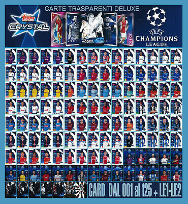 TOPPS CRYSTAL UEFA CHAMPIONS LEAGUE 2018-2019 dal 001 al 125 + LIMITED EDITION