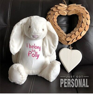 Personalised Bunny - I Belong To - Cuddly Soft Toy