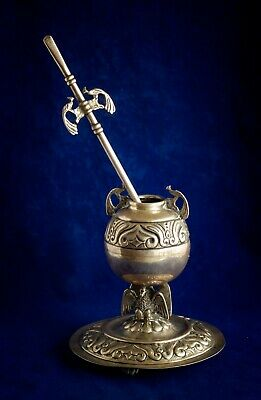 Antique gaucho mate silver