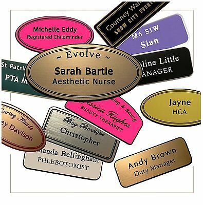 Engraved Name Badges, Personalised, Professional, Premium - Staff / Employees