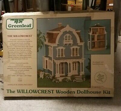 Greenleaf Wooden Dollhouse Kit Miniatures Toy THE WILLOCREST DIY Vintage Rare