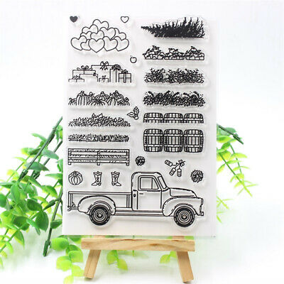 Truck Transparent Clear Silicone Stamps DIY Scrapbooking Card Making Kids Craft