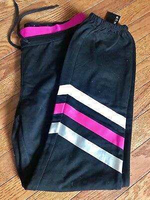 018fdb3b50788f Jessica Simpson The Warm Up Women's Workout Sweatpants Pink Black Size Med  NWT!