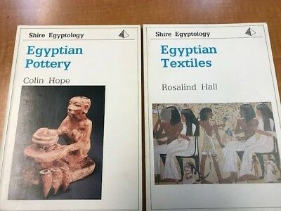 Egyptian Art, Lot of 4 books - Glass and Glazes, Textiles, Pottery, and more