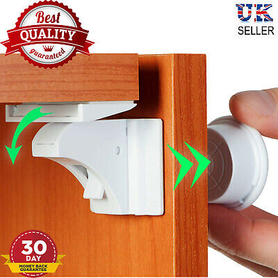 Magnetic Invisible Baby Child Pet Proof Cupboard Door Drawer cabinet Safety Lock