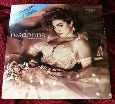 Madonna LIKE A VIRGIN with INTO THE GROOVE Desperately Seeking Susan VINYL  LP