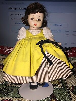"""VINTAGE MADAME ALEXANDER 8"""" DOLL """"FRENCH""""  issued between  1961 AND 1973 BK ALEX"""