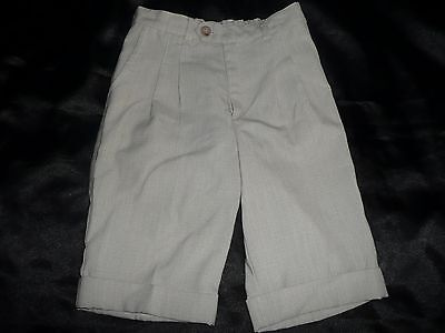 Boys Age 6 Smart Short Trousers Cream/beige Designer Noel Bryan Rrp £29.80%off