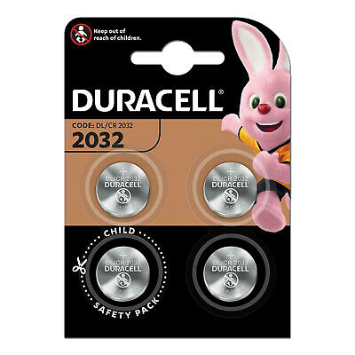 Duracell CR2032 DL2032 Lithium Knopfzelle 3V Batterie CR 2032 4er Blister