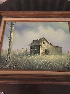 "Original Oil Painting Artist H. GAILEY Signed Landscape Size 11.5""x15.5"""