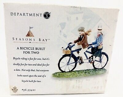 73b873c76b8 DEPARTMENT 56 A Bicycle Built For Two 53421 Seasons Bay 1998 ...