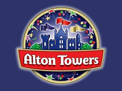 2x Alton Towers e-Tickets 26/08/19 26th August 2019 Monday Bank Holiday