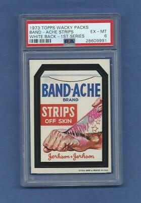 Wacky Packages Series 1 Band-Ache Psa 6 Exmt