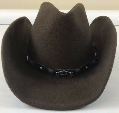 fdbc6450b392f Jack Daniels Brown Cowboy Hat Size Small S - Crushable Wool -  MADE IN USA