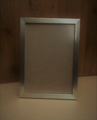 6fbb623d465 A4 Certificate Picture Photo Frame in Narrow Brushed Champagne Silver finish