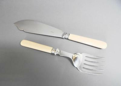 Edwardian EPNS Fish Servers Set by Harrison Bros. Sheffield