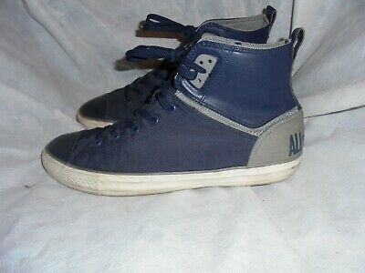 af40cbdd90a4 Converse Men Blue grey Leather textile Lace Up Ankle Trainers Size Uk 11 Eu