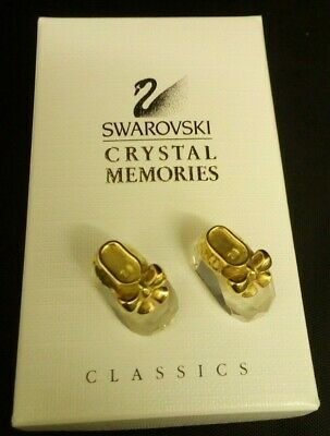 Swarovski Crystal Memories Miniature Baby Bootees (Boxed)      A-0872-MY-W15