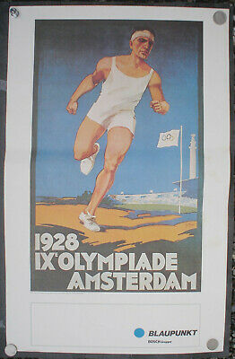 Poster Plakat Joseph Rovers; signed in the plate; Olympiade Amsterdam 1928