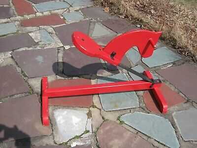 Vintage Child's Handmade Primitive Wooden Rocking Bouncing Horse