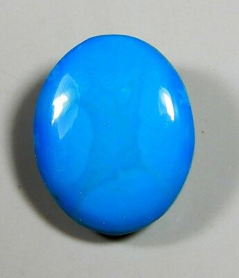 14Ct Natural Ring Size Sky Sleeping Beauty Turquoise Oval Cabochon Gemstone A390