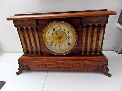 ANTIQUE SETH THOMAS 890 mvt ADAMANTINE CLOCK C. 1880s.