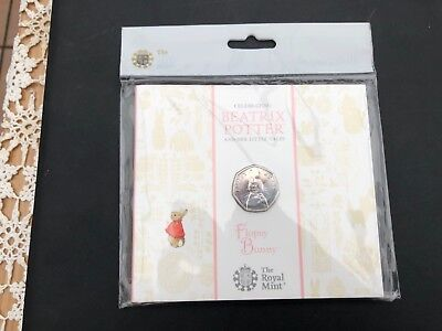 Royal Mint 2018 Flopsy Bunny 50P Coin Beatrix Potter Sealed Collectable
