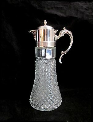 Eales 1779 Silverplate Italy Diamond Point Wine Claret Water Pitcher 1940's
