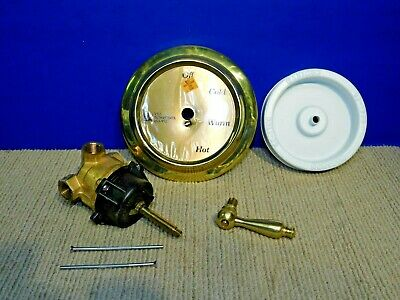 The Renovators Supply 1-Handle Shower Faucet Valve in Heavy Brass Hot Cold Knob