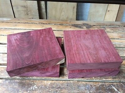 Purpleheart Bowl Blank/wood turning/exotic Woods 10x10x2""