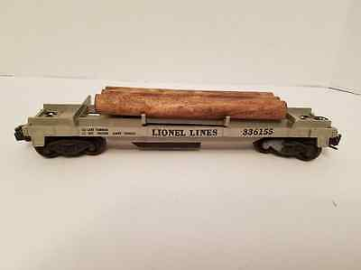 Good . 3361 Log Dump Car Plastic Body Lionel Post-war H76