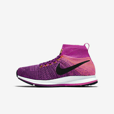 d40fb7840305a Girls Nike ZM Pegasus ALL OUT Flyknit GS 859622-500 Bright Grape NEW Sz 4.5