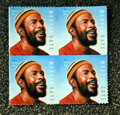 2019USA #5371 Forever - Marvin Gaye -  Block of 4 Stamps  -  Mint NH music icon