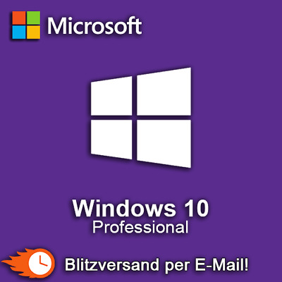 Microsoft Windows 10 Pro Professional 32 & 64 bit Vollversion Blitzversand