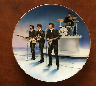 "Vintage Beatles Delphi ""Live in Concert"" Hand Numbered Collectors Plate"