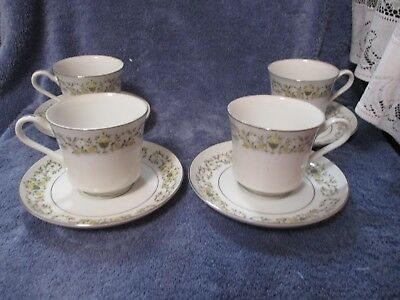 Florentine Sterling Fine China Tea Cup and Saucer 4 Sets Combined Shipping OK