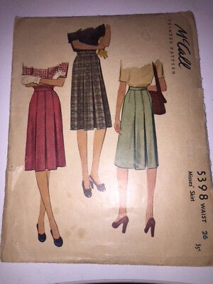 Vintage Sewing Pattern - McCall 5398 - Misses' Skirt - Rare