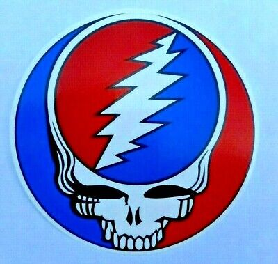 """Grateful Dead Steal Your Face  Decal Sticker 4"""" x 4"""" Round"""