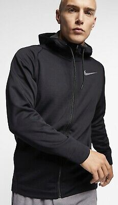 05b4a83f64c4 NIKE THERMA FULL-ZIP TRAINING HOODED JACKET BLACK 932034-010 MEN S SIZE  Medium