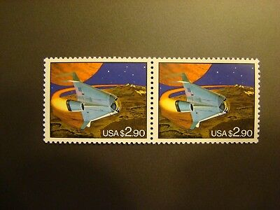 $2.90 Space Ship Block of 2 USPS Stamps MNH