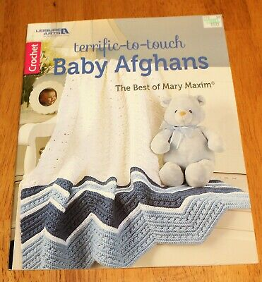 CROCHET PATTERN BOOK The Best of MARY MAXIM BABY AFGHANS ~ 7 Designs