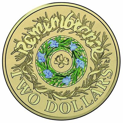 NEW 2017 COLOURED REMEMBRANCE DAY $2 Two Dollar Australian Coin Uncirculated