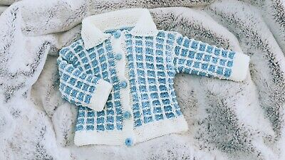 Hand Knitted Baby Boys Cardigan - New - Never Worn