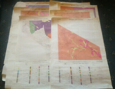 LOT OF 10 x VINTAGE MAPS - SWAZILAND GEOLOGICAL SURVEY -  AFRICA
