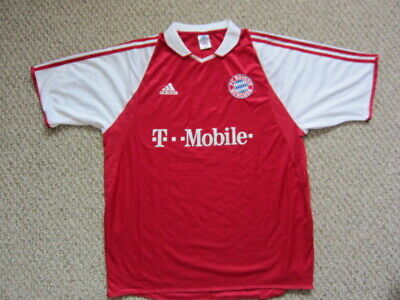 dbc6a1bab4b RARE ADIDAS BAYERN Munchen T Mobile Soccer Jersey Red Youth Xl Quick ...